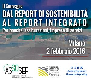 II Convegno 'Dal Bilancio di Sostenibilità al Bilancio Integrato | Per Banche, Assicurazioni e Imprese di Servizi'